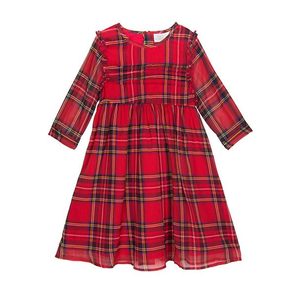 經典蘇格蘭格紋洋裝