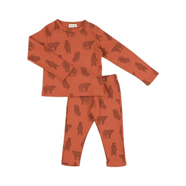 有機棉長袖家居服-勇敢小熊 比利時trixie,有機棉,家居服,吸汗透氣,歐洲製造