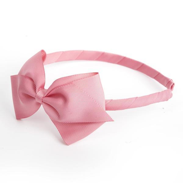 Mon Bonbon經典蝴蝶結髮箍(紅粉色系)