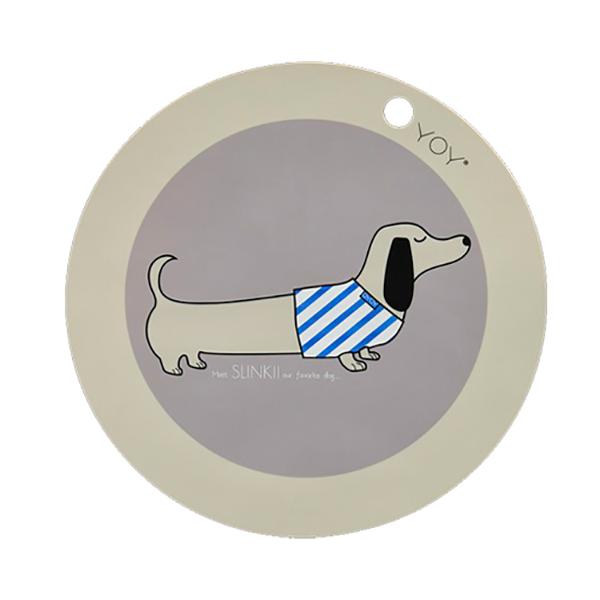 圓形矽膠餐墊-臘腸狗 OYOY,丹麥家居,臘腸狗,矽膠餐墊,餐桌美學,家飾品,易清洗