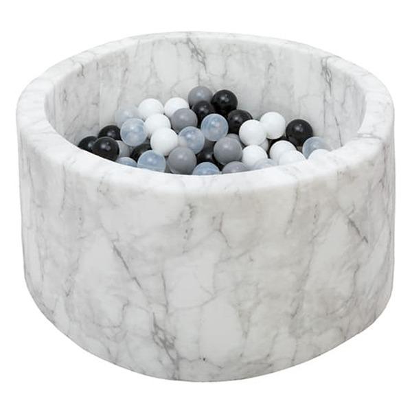 波蘭遊戲球池-100x40(大理石紋) 共2種組合球色可選 波蘭Misioo,遊戲球池,感官刺激,歐盟認證