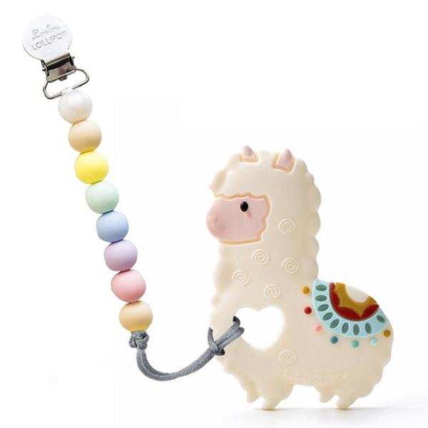 加拿大寶貝固齒器-棉花糖草泥馬