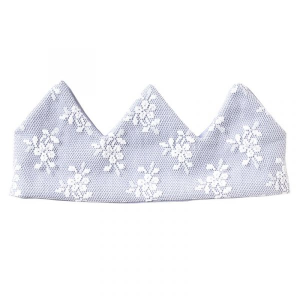 嬰幼兒超可愛雙面皇冠(氣質藍) 嬰幼兒頭飾,日本製,派對造型,雙面皇冠,布面皇冠,魔鬼氈