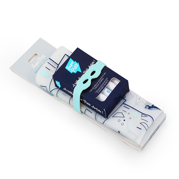 矽膠彩繪餐墊-冰山海底世界 法國Super Petit,100% 食用級矽膠,水洗色筆,環保抗菌,BPA free,彩繪餐墊