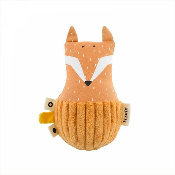 寶寶搖鈴不倒翁-聰明狐狸 比利時trixie,動物不倒翁,嬰幼兒玩具,五感玩具,安撫玩具