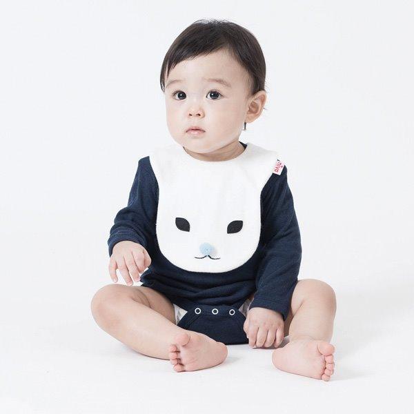 動物造型圍兜/口水巾(兔寶寶滴滴粉藍) 圍兜,口水巾,毛巾布,日本製,造型,兔子,送禮自用