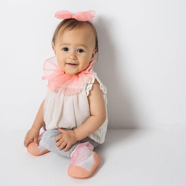 期間限定 可愛造型圍兜髮夾組(莎拉公主粉) 圍兜,口水巾,純棉,日本製,造型,送禮自用