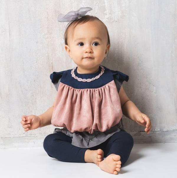 可愛造型圍兜/口水巾(珍珠女孩藍褐) 圍兜,口水巾,純棉,日本製,造型,送禮自用