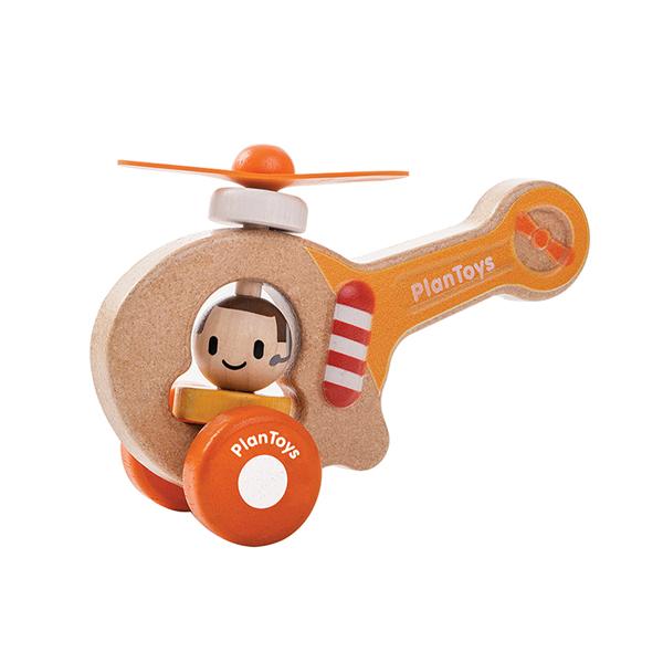 轉轉直升機 泰國,天然橡膠木,直升機,木頭玩具