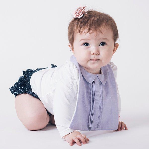 可愛造型圍兜/口水巾(清新小淑女紫)