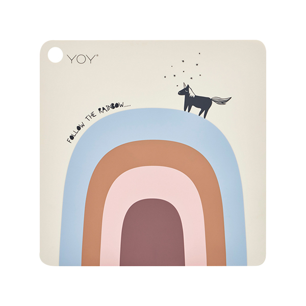 方形矽膠餐墊-夢想彩虹 OYOY,丹麥家居,夢想彩虹,矽膠餐墊,餐桌美學,家飾品,易清洗
