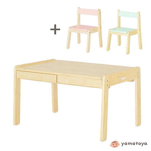 Norsta 幼兒成長型雙人書桌椅組(一桌兩椅)