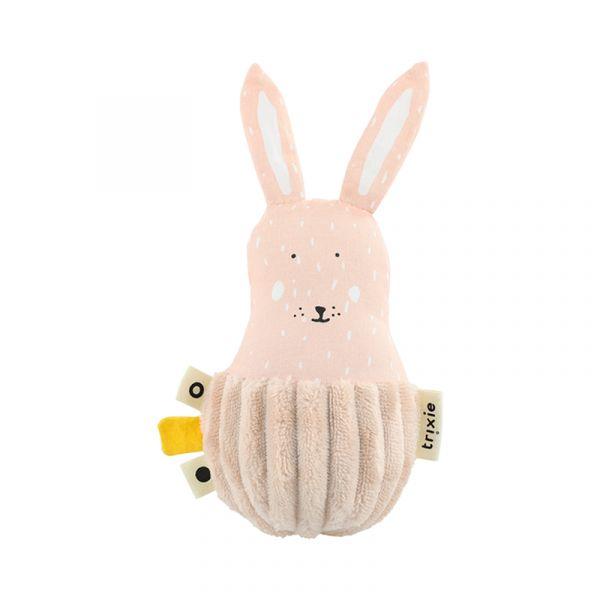 寶寶搖鈴不倒翁-乖乖小兔 比利時trixie,動物不倒翁,嬰幼兒玩具,五感玩具,安撫玩具