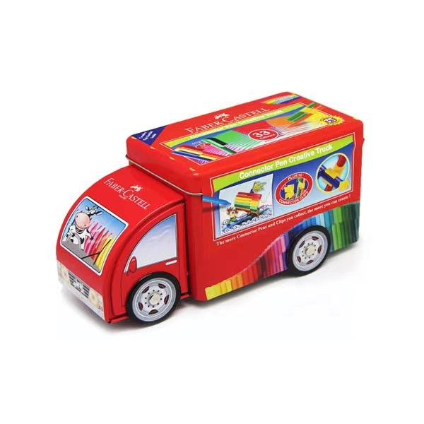 卡車造型連接筆-33色 德國,安全無毒,水性色筆,連接筆,符合歐盟CE檢驗標準