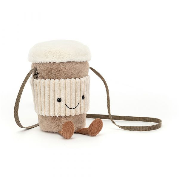 Amuseable Coffee-To-Go Bag 拿鐵斜背包 jellycat,Amuseable系列,拿鐵,咖啡,造型斜背包,送禮推薦