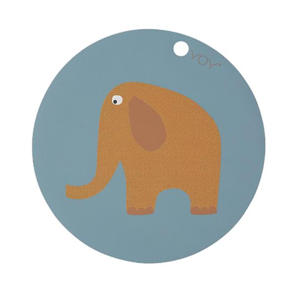 圓形矽膠餐墊-哈蒂小象 OYOY,丹麥家居,哈蒂小象,矽膠餐墊,餐桌美學,家飾品,易清洗