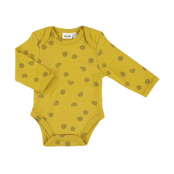 有機棉長袖包屁衣-燦爛陽光 比利時trixie,有機棉,包屁衣,吸汗透氣,歐洲製造