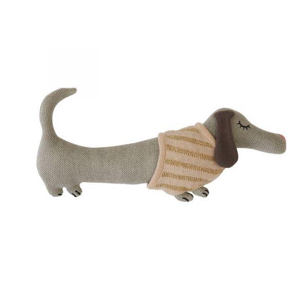 寶貝造型抱枕-幼幼臘腸 OYOY,丹麥家居,臘腸狗,造型抱枕,針織抱枕,家飾品
