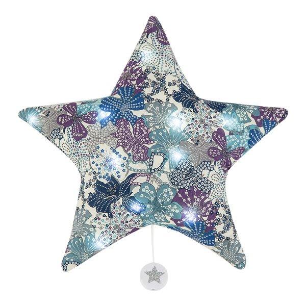 法式星星音樂夜燈(浪漫紫印花)
