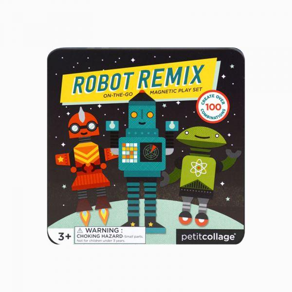 磁鐵遊戲盒-百變機器人 美國Petit Collage,磁鐵,創造力,想像力,手眼協調