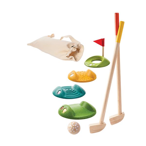 經典木作童玩-高爾夫球練習組   泰國,天然橡膠木,童玩,高爾夫球
