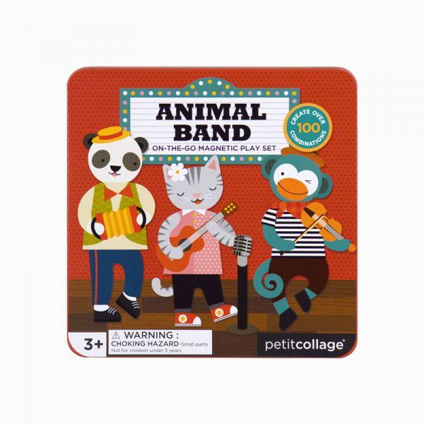 磁鐵遊戲盒-動物樂團 美國Petit Collage,磁鐵,創造力,想像力,手眼協調