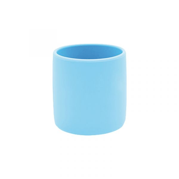 寶寶自主學習杯-天空藍 土耳其minikoioi,矽膠學習杯,耐熱達200度C,食品級矽膠,嬰幼兒餐具