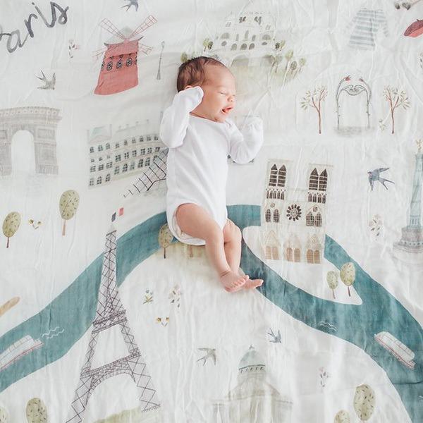 加拿大竹纖維透氣包巾-法國巴黎