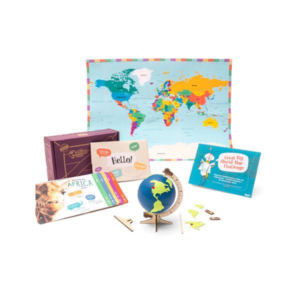 Atlas Crate 地圖集箱-探索世界 美國KiwiCo,STEAM,適合年齡6-11歲,兒童手作