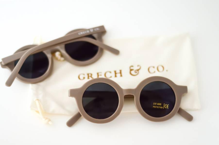 兒童太陽眼鏡(卡其色) 丹麥,太陽眼鏡,墨鏡,抗UV400,適合18個月到6歲,兒童時尚,環保再生塑料
