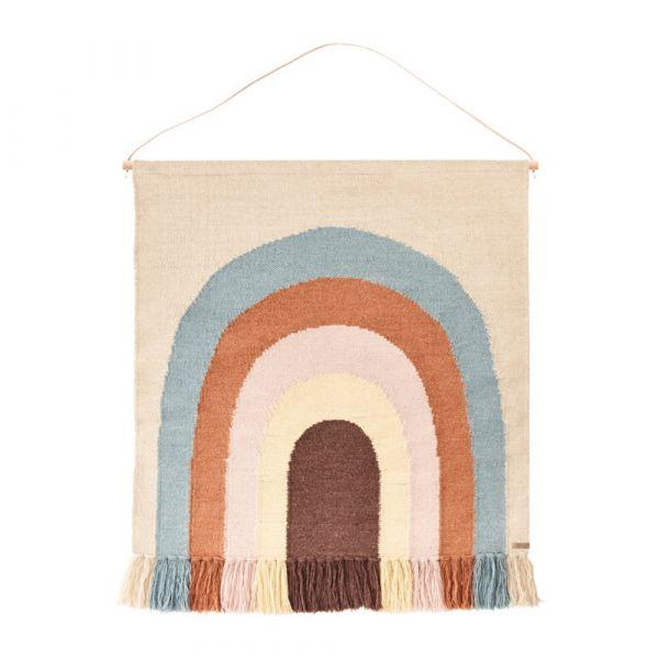 造型手工羊毛掛毯-夢想彩虹 OYOY,丹麥家居,羊毛掛毯,夢想彩虹,兒童房佈置,家飾品