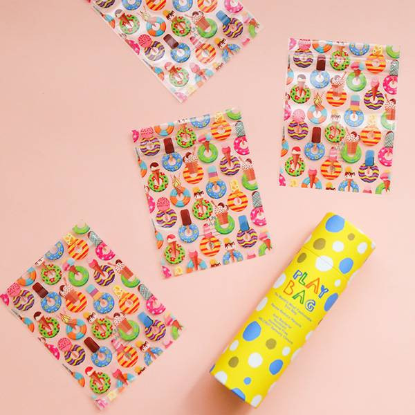 Sundae Wonderland 冰淇淋甜甜圈魔鬼氈抗菌環保袋(迷你型/10入)