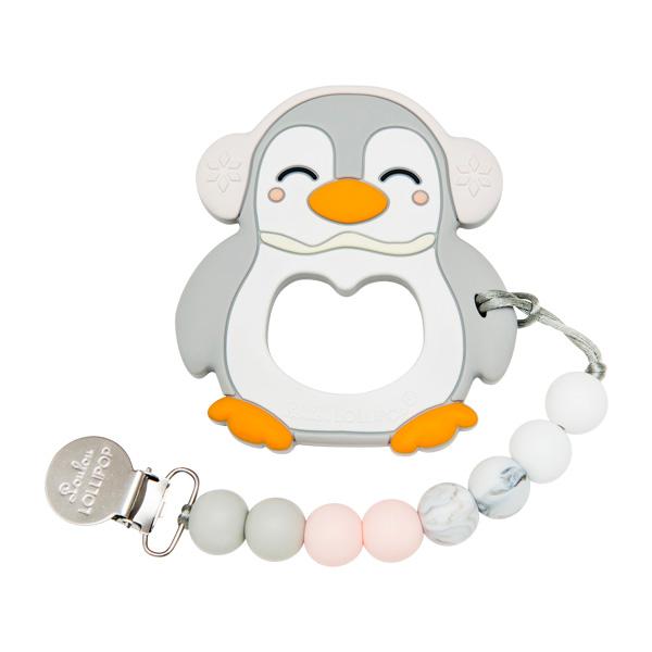 加拿大寶貝固齒器-大理石粉胖胖企鵝