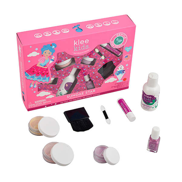 Klee Kids 甜心女孩玩美彩妝組 美國Klee Kids,彩妝組,兒童彩妝,礦物彩妝,溫水即可卸妝