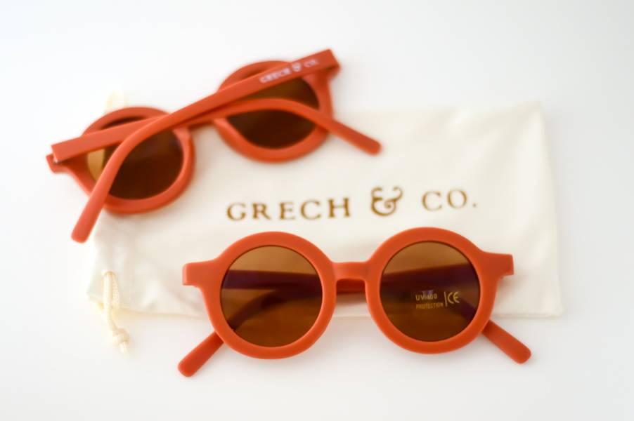 兒童太陽眼鏡(緋紅色) 丹麥,太陽眼鏡,墨鏡,抗UV400,適合18個月到6歲,兒童時尚,環保再生塑料