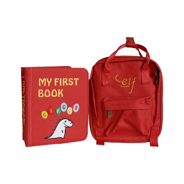 第四冊-馬戲團篇(火焰紅) My First Book,布書,DIY,啟蒙,撕不爛布書,童書,蒙特梭利,早教