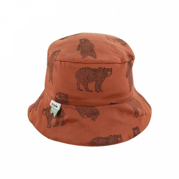 有機棉遮陽帽-勇敢小熊 比利時trixie,有機棉遮陽帽,嬰幼兒帽子,吸濕透氣,頭圍48至52cm