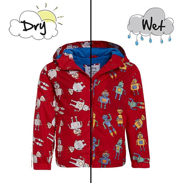 英國變色雨衣(紅色機器人) 英國Holly and Beau,神奇變色雨衣,防風防水,外套