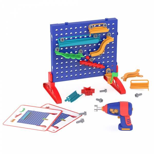 天才工程師-STEAM軌道牆 美國Educational Insights,天才工程師,軌道設計,STEAM,手眼協調