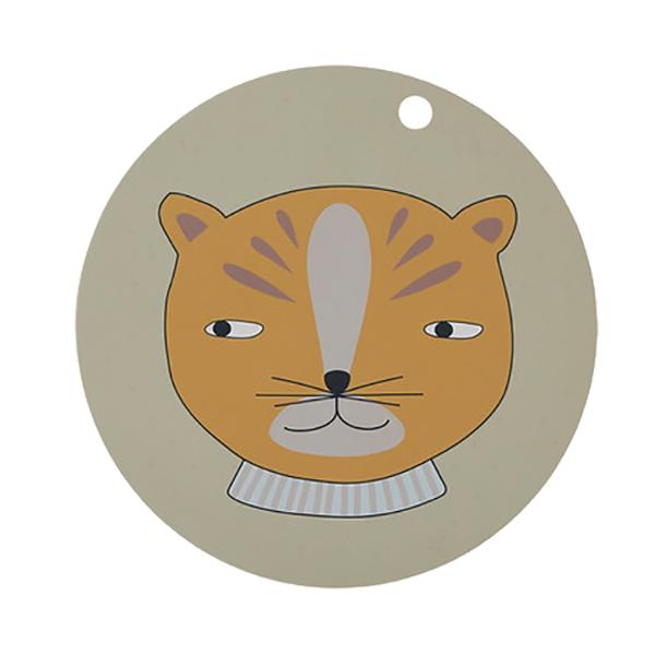 圓形矽膠餐墊-紳士小豹 OYOY,丹麥家居,紳士小豹,矽膠餐墊,餐桌美學,家飾品,易清洗