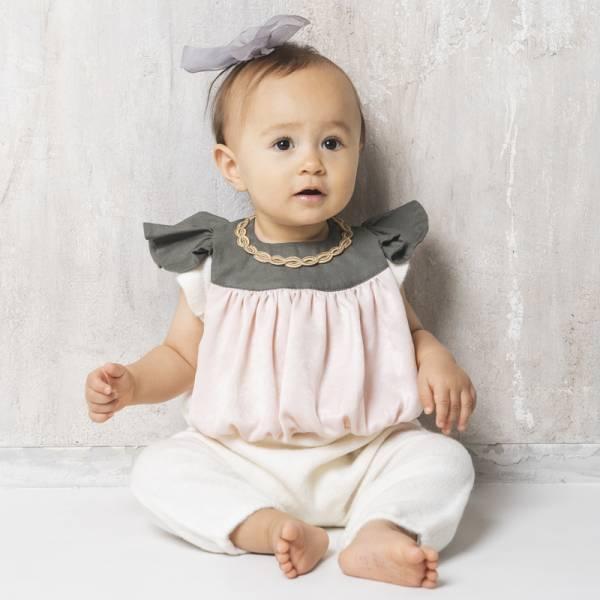 可愛造型圍兜/口水巾(珍珠女孩灰粉) 圍兜,口水巾,純棉,日本製,造型,送禮自用
