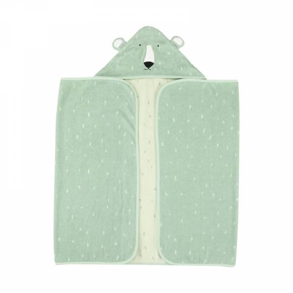 動物造型有機棉連帽浴巾-可愛北極熊 比利時trixie,有機棉浴巾,動物造型浴巾,嬰幼兒連帽浴巾,吸水力極佳