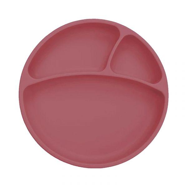 防滑矽膠餐盤-石榴紅 土耳其minikoioi,矽膠餐盤,分隔餐盤,訓練獨立進食,耐熱達200度C,食品級矽膠,嬰幼兒餐具