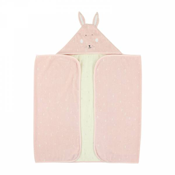 動物造型有機棉連帽浴巾-乖乖小兔 比利時trixie,有機棉浴巾,動物造型浴巾,嬰幼兒連帽浴巾,吸水力極佳