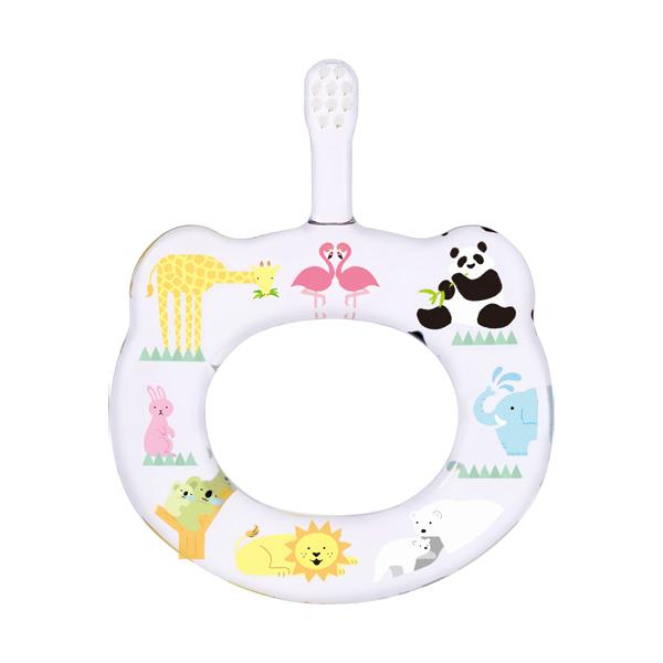 HAMICO寶寶顧齒牙刷-遊戲天地(共5款) HAMICO牙刷,日本製,5個月適用,短而窄刷頭,短而柔軟刷毛,主題圖案印刷,環狀造型,輕巧