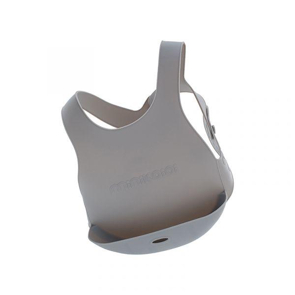 X型立體矽膠圍兜-銀河灰 土耳其minikoioi,矽膠圍兜,背心圍兜,口袋圍兜,耐熱達200度C,食品級矽膠,嬰幼兒餐具