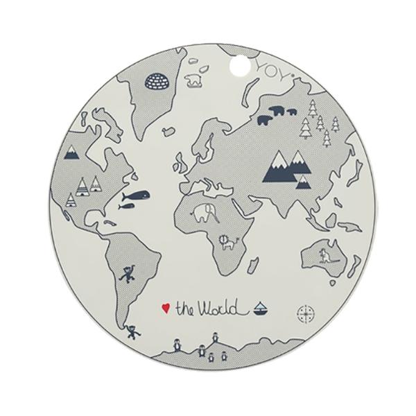 圓形矽膠餐墊-世界地圖 OYOY,丹麥家居,世界地圖,矽膠餐墊,餐桌美學,家飾品,易清洗