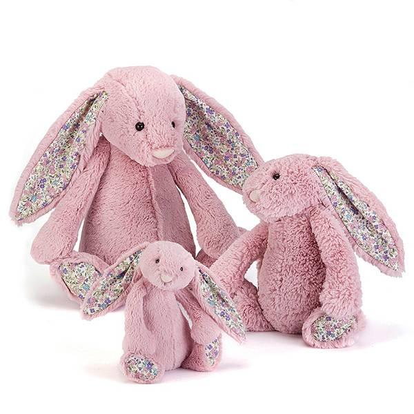 Blossom Tulip Bunny 碎花鬱金香粉兔(31cm) jellycat,Bashful Bunny,碎花兔,英國絨毛玩偶,送禮推薦,媽媽必敗,好萊塢明星,寶寶第一個好朋友