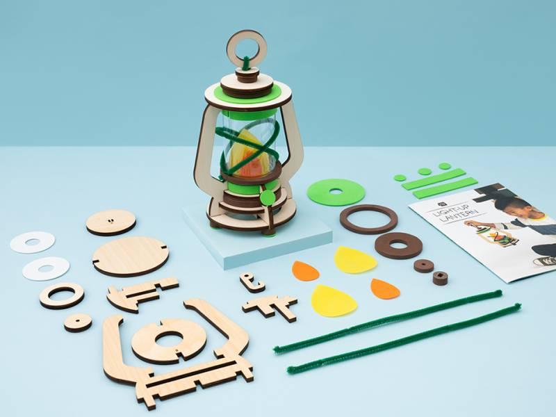 Kiwi Crate 奇異鳥箱-DIY復古油燈 美國KiwiCo,STEAM,適合年齡5-8歲,兒童手作