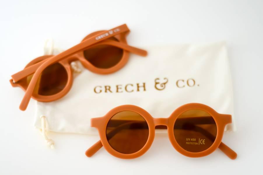 兒童太陽眼鏡(亮澄色) 丹麥,太陽眼鏡,墨鏡,抗UV400,適合18個月到6歲,兒童時尚,環保再生塑料